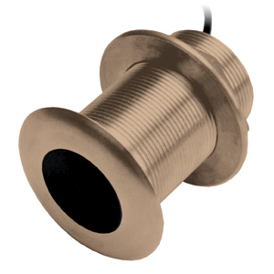 Bronze Thru-Hull Mount Transducer with Depth & Temperature (20° tilt) - Airmar B619